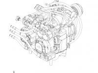Блок передачи VARIO ML260.2 трактора Massey Ferguson (с коробки передач с серийным номером K0C164036) — 009995400000A