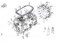 Картер КПП трактора Massey Ferguson(до коробки передач с серийным номером K0C163058) — 1030153100000