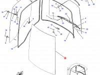 Переднее стекло кабины трактора Challenger — 151-9990