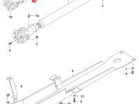 Крестовина карданного вала привода переднего моста - 30x89,3mm — 31691100