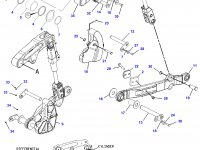 Вал рычагов навески трактора Challenger — 169-0078