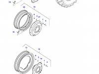 Задний колесный диск - DW16Lx42 (GKN) — 33620900