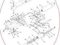 Натяжитель гусеницы для гусеничных тракторов Challenger (левая сторона) — 176-2976