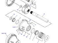 Планетарная (сателлитная) шестерня бортового редуктора трактора Challenger (30 зубьев) — 179-9007