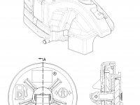 Топливный бак трактора Challenger - Левая сторона — 188-0770