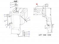 Топливный бак трактора Challenger (85.3 литра) - Перед — 192-8869
