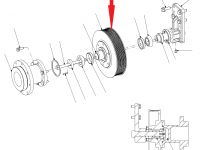 Шкив ремня вентилятора охлаждения двигателя трактор Challenger — 193-2271