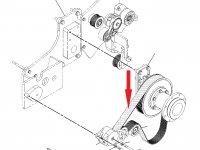 Ремень вентилятора охлаждения двигателя на трактор Challenger — 197-6291