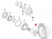 Коническая(главная) пара(конический редуктор) переднего моста трактора — 31050900