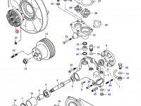 Вискомуфта вентилятора радиатора двигателя Sisu Diesel — 836840905