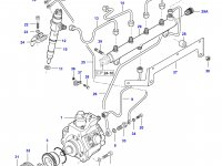 Топливная трубка четвертого цилиндра двигателя Sisu Diesel — 837070302