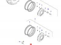 Передний колесный диск - DW13x28(*, DANA 730 MONOL) — 35402300