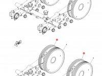 Ведущее колесо гусеницы для тракторов Challenger (196 мм) — 1R-1235