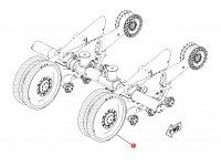 Ленивец (направляющее колесо гусеницы) для гусеничных тракторов Challenger (диаметр 80 мм) — 1R-1236