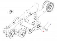 Опорный каток для гусеничных тракторов Challenger (диаметр 90 мм) — 1R-1239