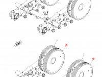 Ведущее колесо гусеницы для тракторов Challenger (196 мм) — 1R-1250