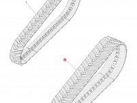 Комплект гусеничных лент для тракторов Challenger (699 мм) — 1R-1265