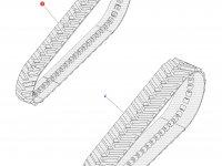 Комплект гусеничных лент для тракторов Challenger (457 мм) — 1R-1388