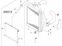 Нижний патрубок радиатора двигателя Sisu Diesel — 616800