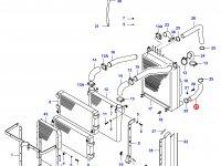 Нижний патрубок радиатора двигателя Sisu Diesel — 34040100