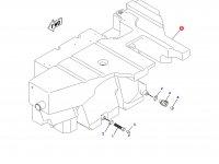 Топливный бак трактора Challenger (345 литров) - Зад — 201-3710
