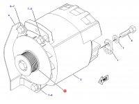 Шкив (ролик) ремня генератора трактора Challenger — 209-6835