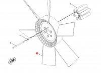 Крыльчатка (вентилятор) радиатора трактор Challenger — 210-0083