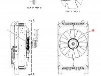 Крыльчатка (вентилятор) радиатора трактор Challenger — 210-0202