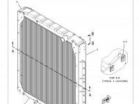 Радиатор двигателя трактора Challenger — 221-1229