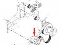 Натяжитель приводного ремня трактор Challenger — 221-1230