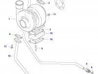 Патрубок турбокомпрессора двигателя Sisu Diesel — 836866381