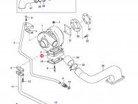 Фланец турбокомпрессора двигателя Sisu Diesel — 836855630