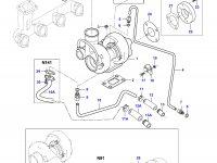 Патрубок турбокомпрессора двигателя Sisu Diesel — 836767028