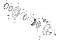 Солнечная шестерня редуктора моста — 36698900