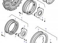 Задний колесный диск - DW16x34(kint., fixed) — 35628500