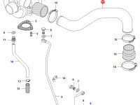 Патрубок турбокомпрессора двигателя Sisu Diesel — 836659620