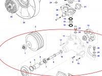 Водяной насос охлаждения двигателя Sisu Diesel — 836866631