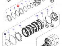 Подшипник узла двойного сцепления КПП трактора Massey Ferguson — 3010462X1