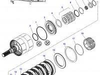 Подшипник узла двойного сцепления КПП трактора Challenger — 3011896X1