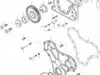 Передний сальник коленвала двигателя Sisu Diesel — 836840883