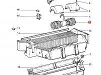 Вентилятор печки отопителя кондиционера кабины трактора Challenger — 3310831M91