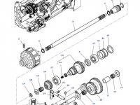 Вилка включения муфты ВОМ трактора Massey Ferguson — 3383577M2