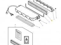 Фильтр воздушный кабины для тракторов Massey Ferguson — 3388840M3
