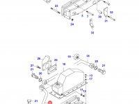 Патрубок интеркулера двигателя Sisu Diesel — 836755847