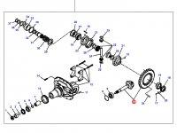Коническая (главная) пара (конический редуктор) переднего моста трактора Massey Ferguson (фиксированный мост) — 3429424M92
