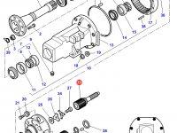 Солнечная вал-шестерня бортового редуктора заднего моста трактора Challenger — 3582361M5