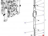 Вилка раскоса навески трактора Massey Ferguson — 3616224M2