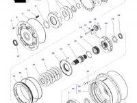 Фрикционный диск мультипликатора КПП трактора Massey Ferguson — 3616741M2