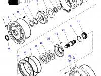 Фрикционный диск мультипликатора КПП трактор Challenger — 3616741M2