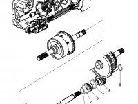 Вал отбора мощности (ВОМ) трактора Massey Ferguson — 3617597M2
